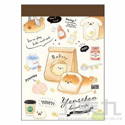 YEASTKEN麵包犬 迷你便條紙B KM21066