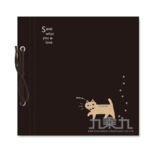 O-Cat綁繩DIY自黏相本-黑 JPA-58B