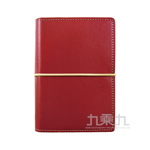 A7 萬用手冊PU合成皮 英式簡約酒紅色DM-509