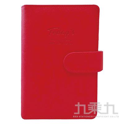 48K典雅壓紋萬用手冊(紅)-簡單生活 CBN-313A
