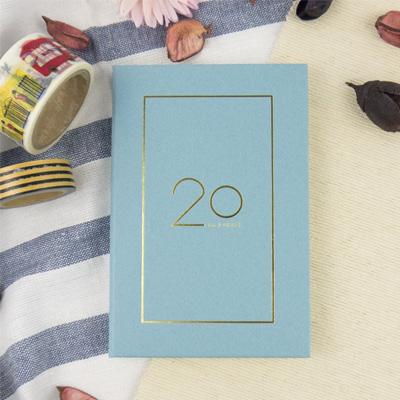 2020-32K奢樸軟背精裝橫式週誌(霧藍) LS01320-20