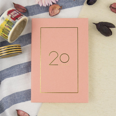 2020-32K奢樸軟背精裝橫式週誌(朵粉) LS01323-20