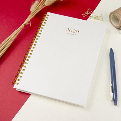 2020-25K苧麻雙線圈橫式週誌(月白) RA02251-20