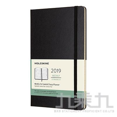 MOLESKINE 2019硬殼橫式週記手帳12M (L型) ML715