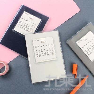 A6素面月計劃+筆記 (108.6~109.6) BC-10806-50A (款式隨機)