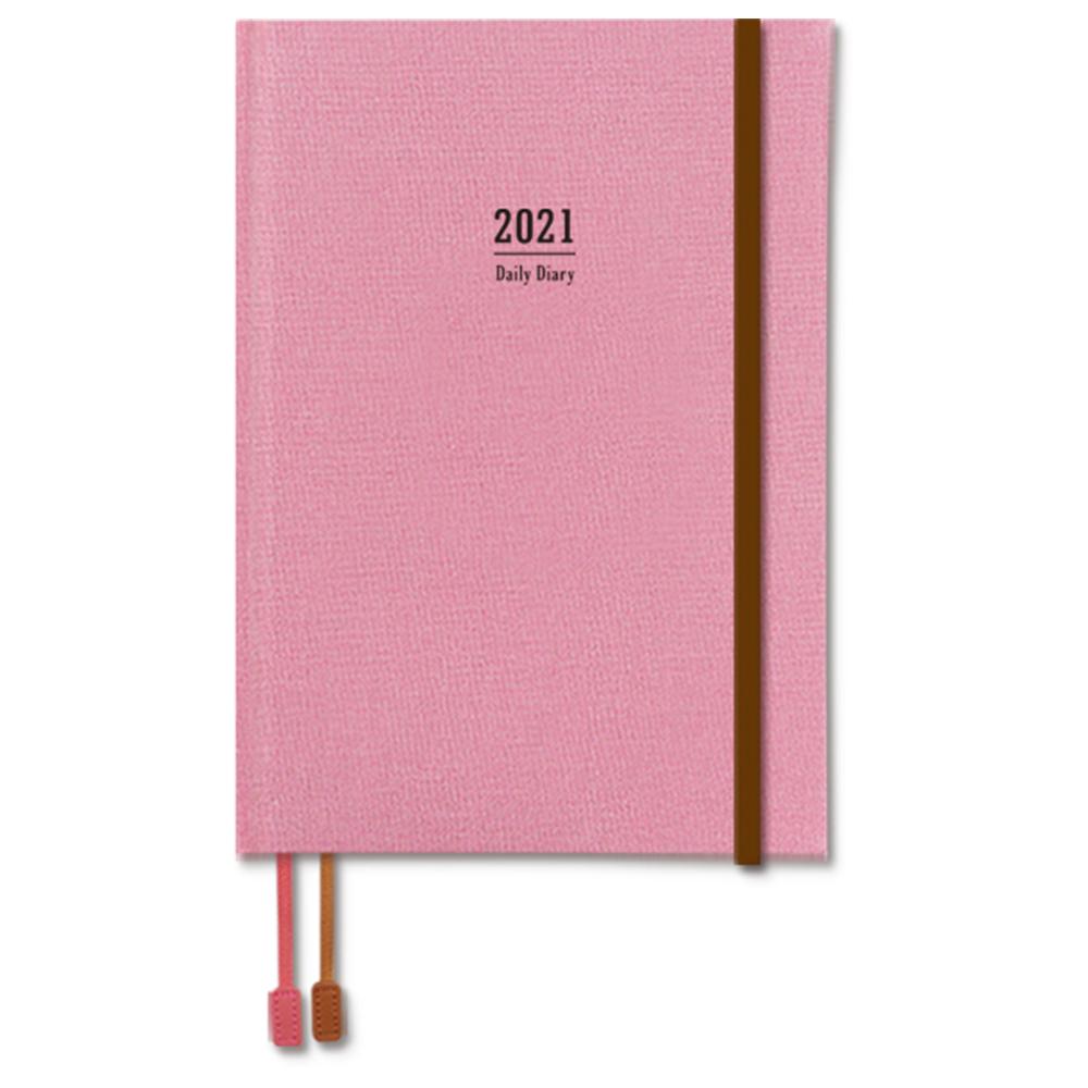 2021年A5精裝日誌(1日1頁)-粉 BC-50483-04