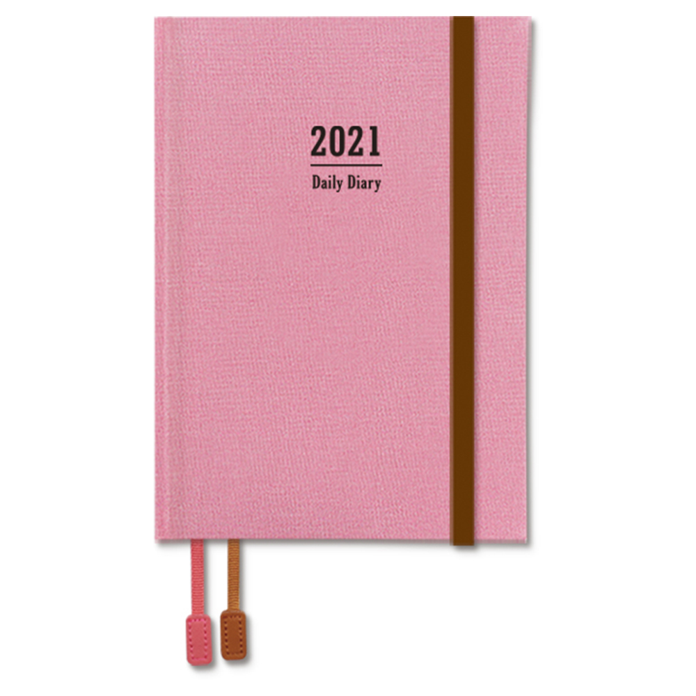 2021年A6精裝日誌(1日1頁)-粉 BC-50475-04