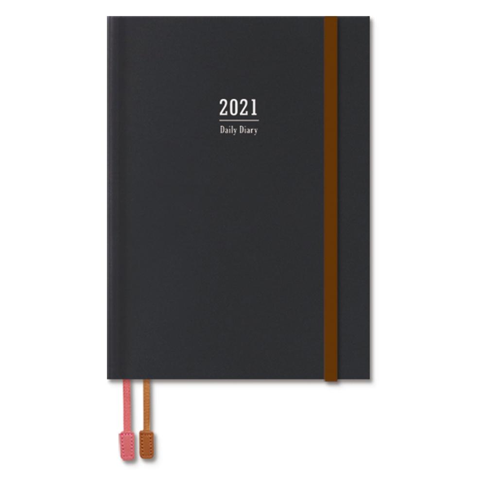 2021年B6精裝日誌(1日1頁)-黑 BC-50479-01
