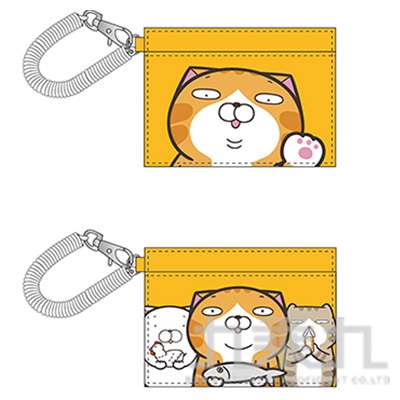 白爛貓皮質伸縮多功能票卡套 LCDC190-1 (恕不挑款)