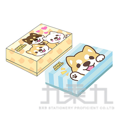 小捲尾柴柴彩色名片盒 SONC60-1