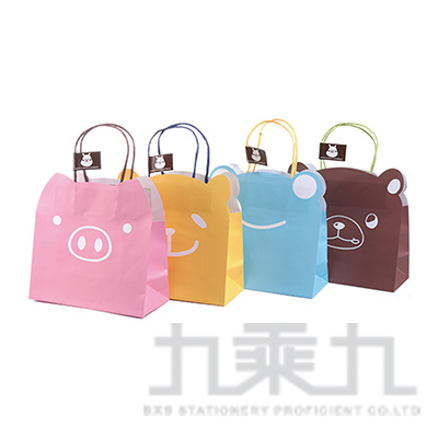 動物造型牛皮紙袋(L)