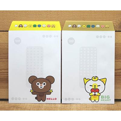 新動物55中式信封(米貓與甜熊) 67315