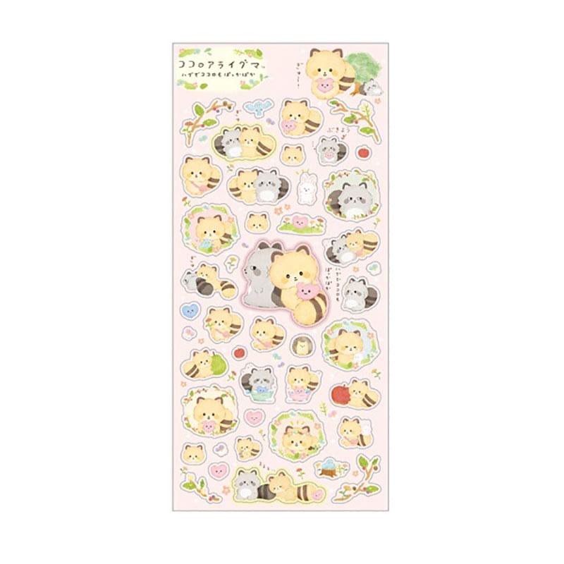 小浣熊貼紙/粉KO/A:SE48801