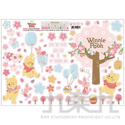 小熊維尼系列櫻花創意壁貼