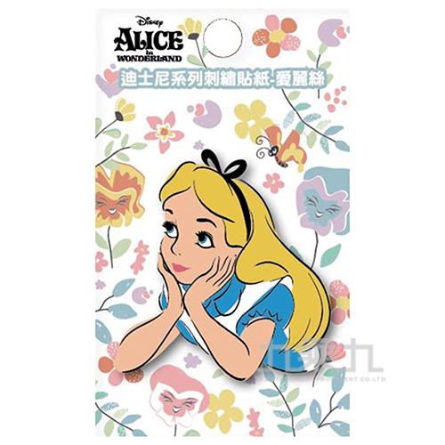 迪士尼系列刺繡貼紙-愛麗絲