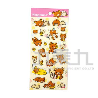 拉拉熊點膠貼紙(基本圖版) RK04473B