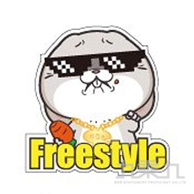防水裝飾貼紙(Freestyle)-好想兔 CST-315H