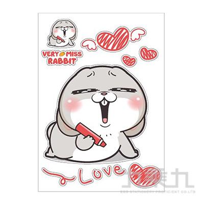 A4防水裝飾貼紙(LOVE)-好想兔 CST-324C