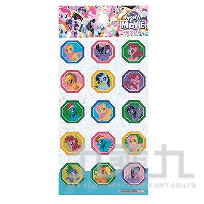 彩虹小馬燙金貼紙 MLBC35-1