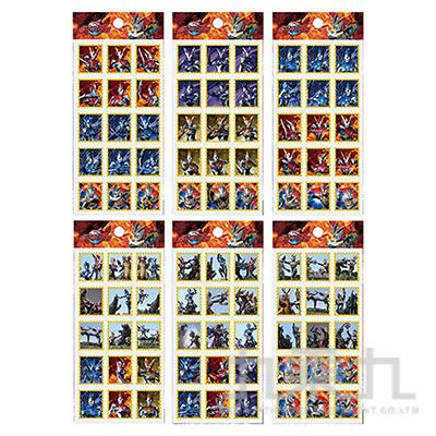 超人力霸王郵票燙金小貼紙ULBC35-1