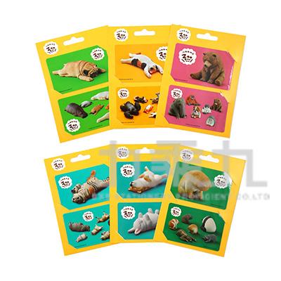 休眠動物園票卡貼紙(2入) SLBC50-1