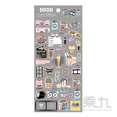 NEKONI 水晶滴膠貼紙 85434