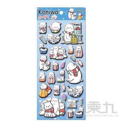 koniwa 萌寵團子堆泡棉貼紙 85530