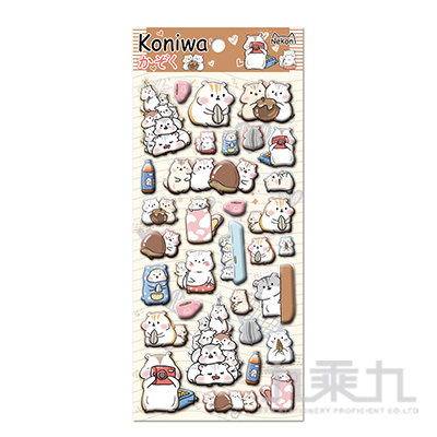 koniwa 萌寵團子堆泡棉貼紙 85538