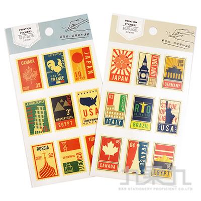 35號手帳轉印貼紙-郵票記憶 HC-23584
