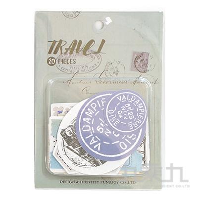 47號手帳貼紙包-旅行家  HC-30797