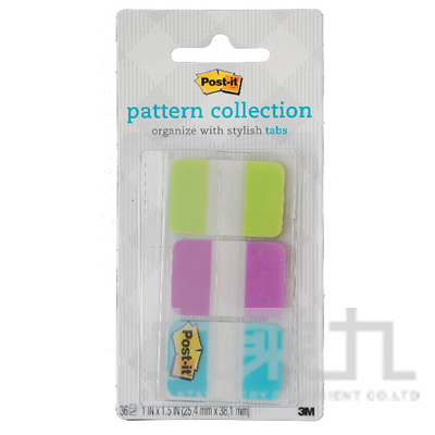 利貼可再貼超厚材質標籤(綠+紫+藍) 686-M1