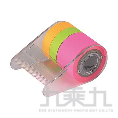 螢光捲型便條紙3色(粉) SN662