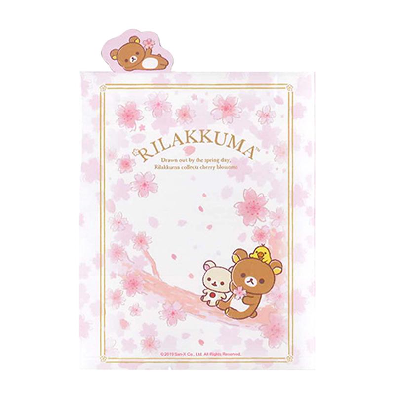 拉拉熊四折造型便利貼-櫻花版 RK13421B