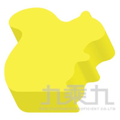 動物造型便條磚-松鼠(螢光黃)61050 200張/本