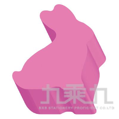 動物造型便條磚-兔子(螢光粉)61051 200張/本