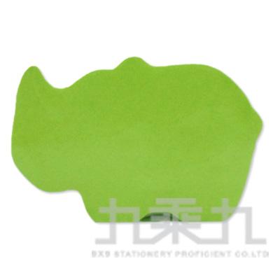動物造型便條磚-犀牛(螢光綠)61055 200張/本