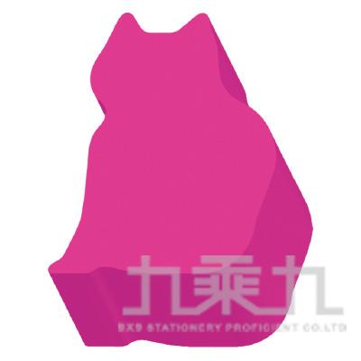 動物造型便條磚-貓(螢光洋紅)61056 200張/本