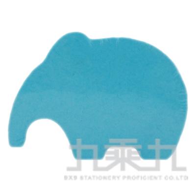 動物造型便條磚-大象(螢光藍)61058 200張/本