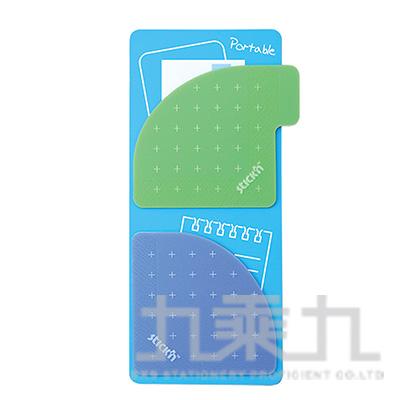 N次貼可再貼收納口袋(綠+紫)