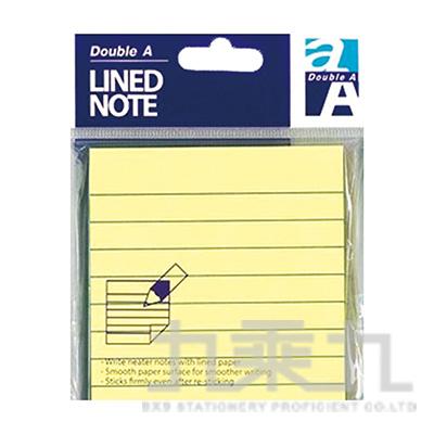 DA便利貼/3x3/黃色(橫格) DASN17001