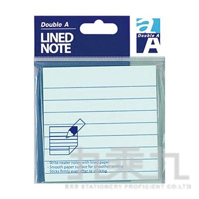 DA便利貼/3x3/藍色(橫格) DASN17003