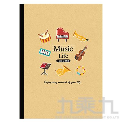 SEASON 16K大格音樂簿 樂器 BJ2518-01