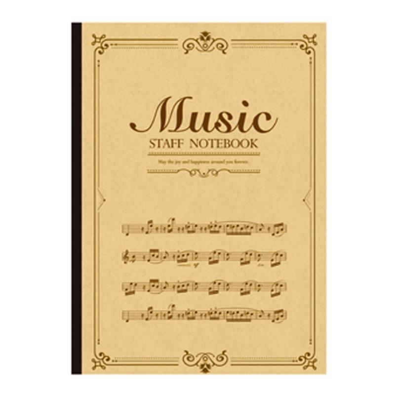 BJ2507-16 音樂簿16K-褐譜
