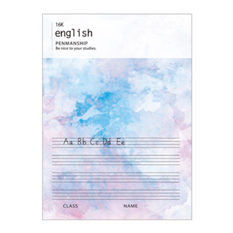 BJ2602-07 筆記英文簿16K-炫彩