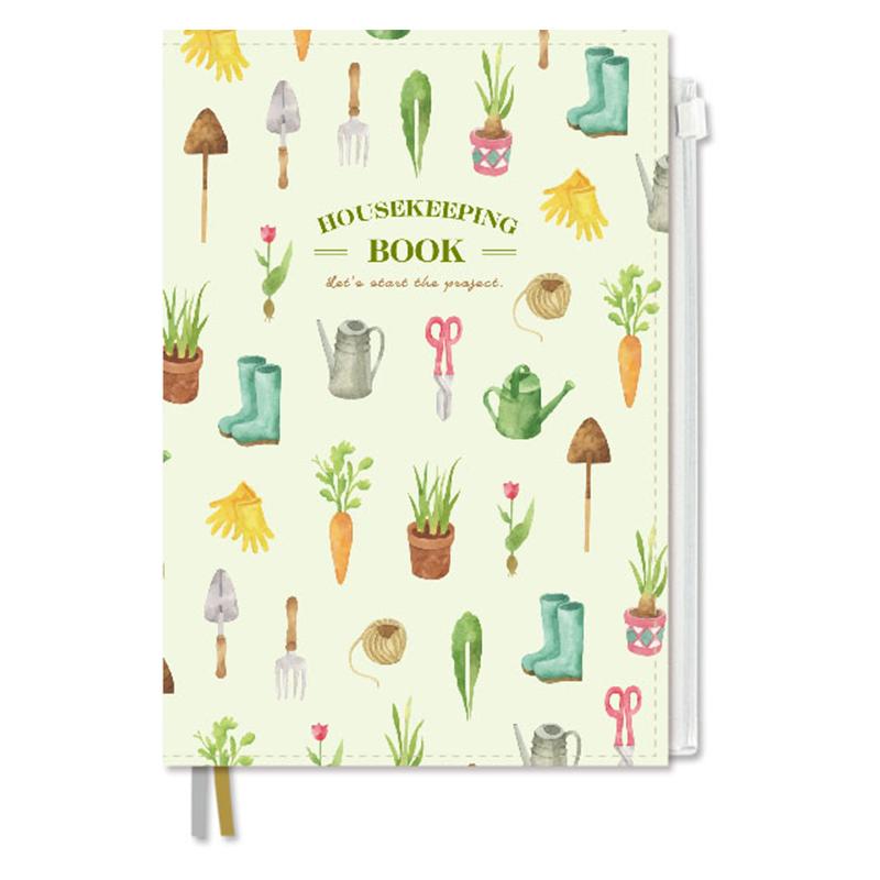 A5絹布家計簿-104張/園藝