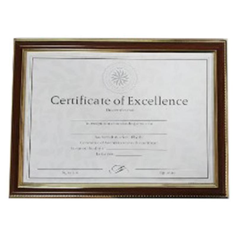A4鐵刀木紋證書框(雙金框)