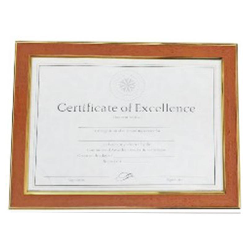 A4淺木紋證書框(雙金框)