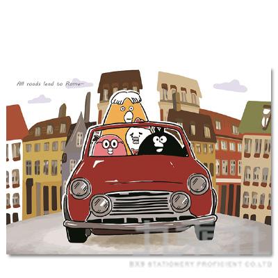 奧樂雞明信片(城市出遊) OL-PC180003