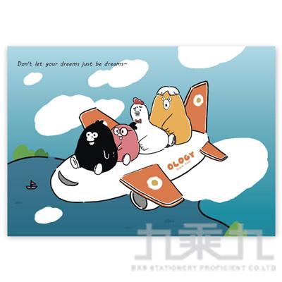奧樂雞明信片(飛翔) OL-PC180004