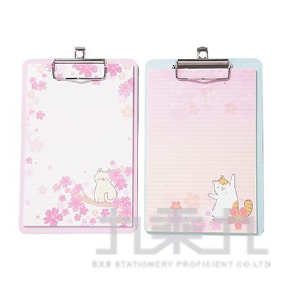 櫻花貓A5夾板筆記 CB1908110 (款式隨機)